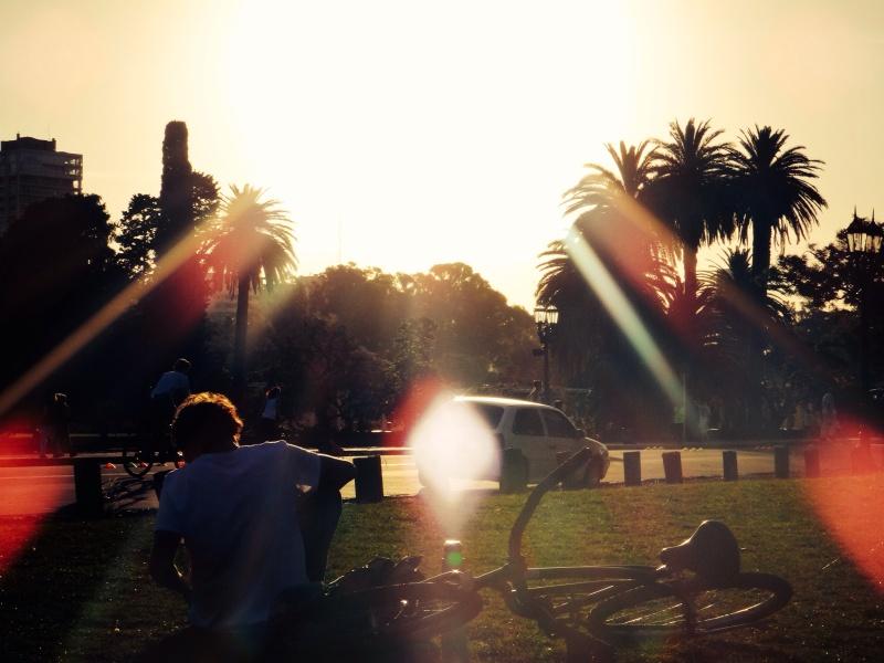 Cyclist &  Sunshine